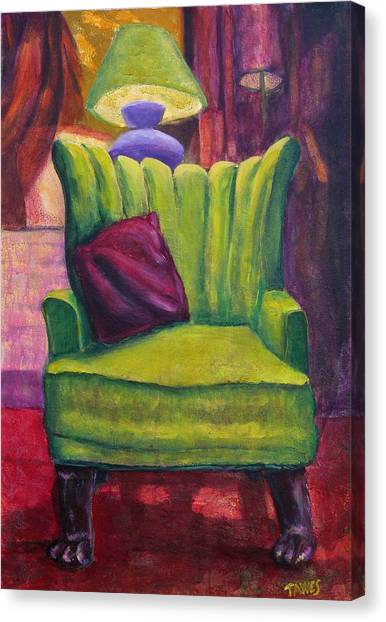 My Interview With A Chair Canvas Print