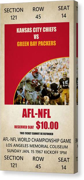 Superbowl Canvas Print - My Kansas City Chiefs Super Bowl Ticket by Joe Hamilton