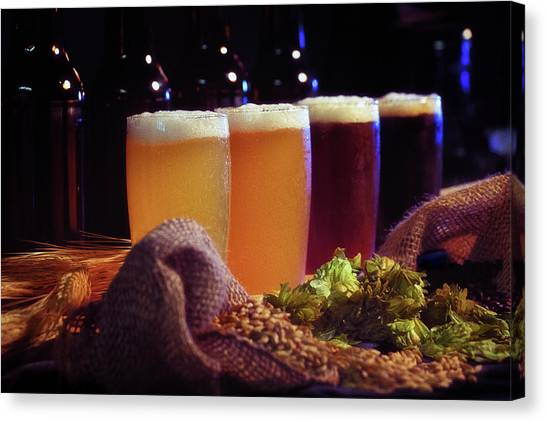 Craft Beer Canvas Print - My Kind Of Rainbow by Marnie Patchett