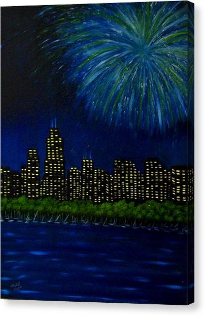 My Kind Of Town Canvas Print by Marie Lamoureaux