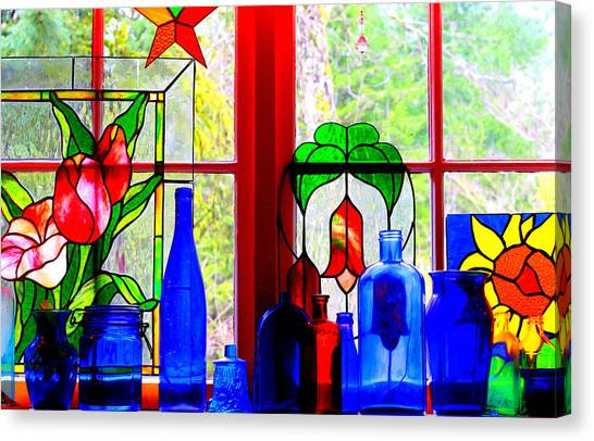 My Kitchen Window Canvas Print