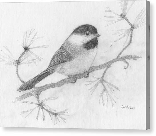 My Little Chickadee Canvas Print by Cynthia  Lanka