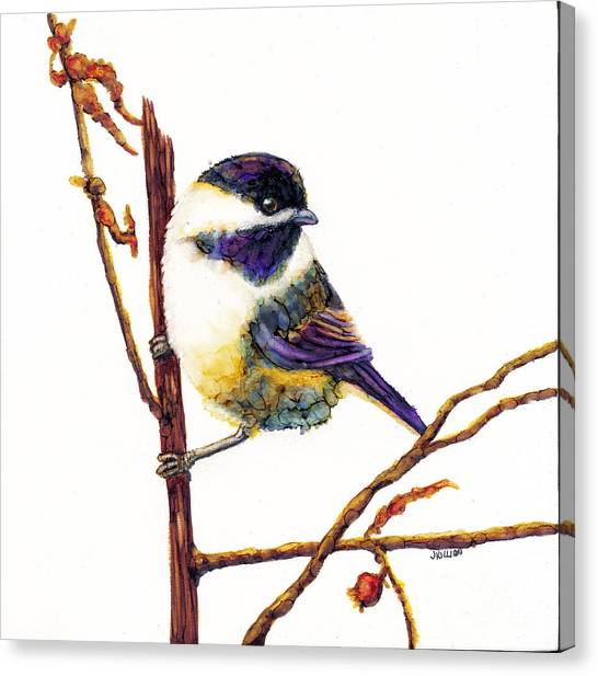 My Little Chickadee Canvas Print
