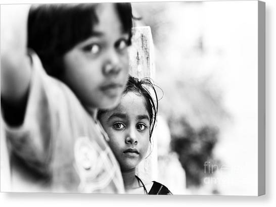 Big Sister Canvas Print - My Little Sister by Tim Gainey