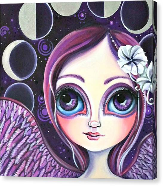 Fairy Canvas Print - My moon Phase Angel Original by Jaz Higgins
