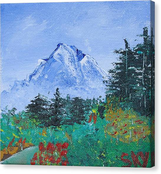 Bob Ross Canvas Print - My Mountain Wonder by Jera Sky