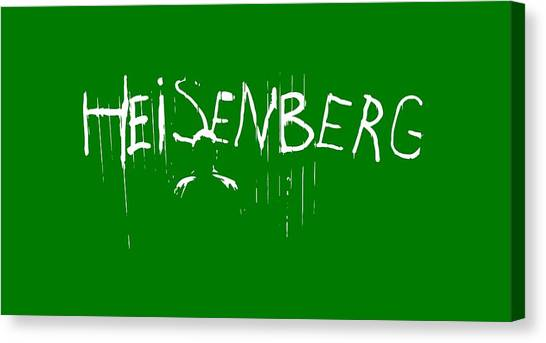 Tv Shows Canvas Print - My Name Is Heisenberg - Graffiti Spray Paint Breaking Bad - Walter White - Breaking Bad - Amc by Paul Telling