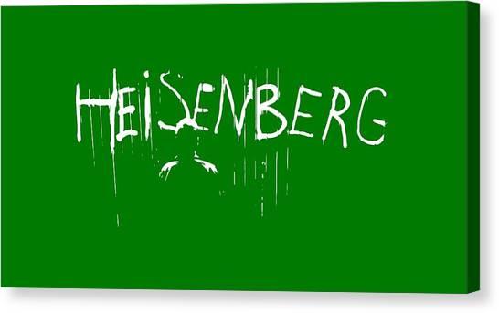 Science Canvas Print - My Name Is Heisenberg - Graffiti Spray Paint Breaking Bad - Walter White - Breaking Bad - Amc by Paul Telling