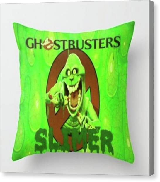 Ghostbusters Canvas Print - My New slimertized Throw Pillow! by ItalianRican Art