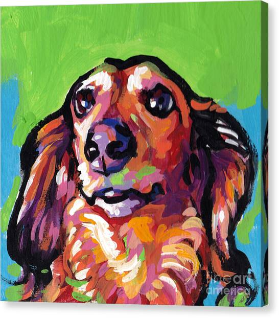 Dachshunds Canvas Print - My Nose Knows by Lea S