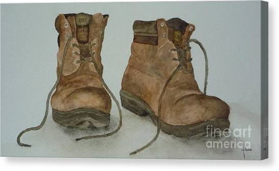 My Old Hiking Boots Canvas Print