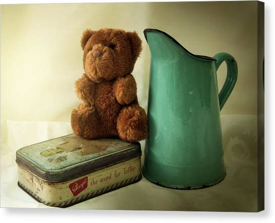 Teddy Bears Canvas Print - My Old Teddy Bear by Gert J Gagiano