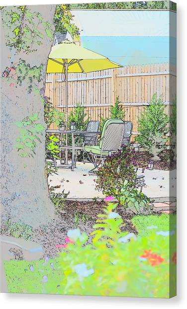 Canvas Print featuring the photograph My Patio by EDi by Darlene