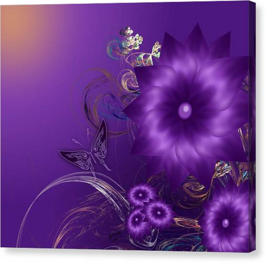 My Purple Day Canvas Print