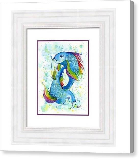 Fish Canvas Print - My rainbow Koi Looks Great All by Darice Machel McGuire