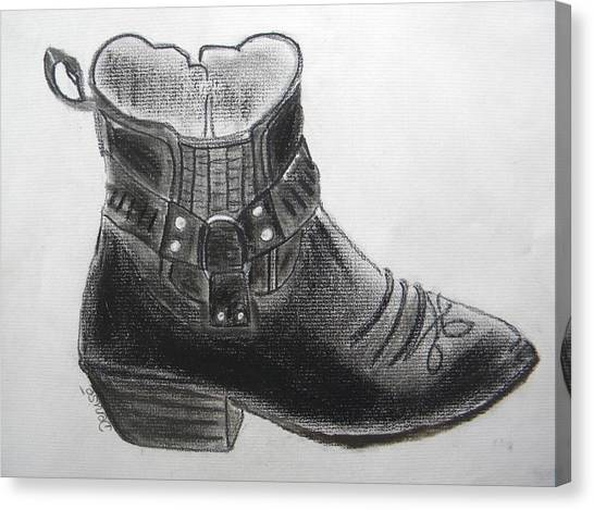 My Right Boot Canvas Print