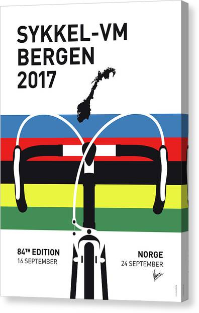 Tour De France Canvas Print - My Road World Championships Minimal Poster 2017 by Chungkong Art