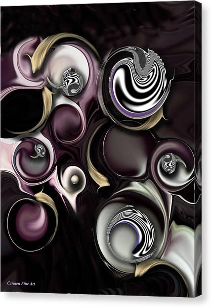 Canvas Print featuring the digital art My Sensitive Morphysm by Carmen Fine Art