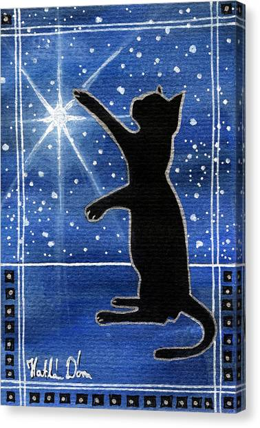 My Shinning Star - Christmas Cat Canvas Print