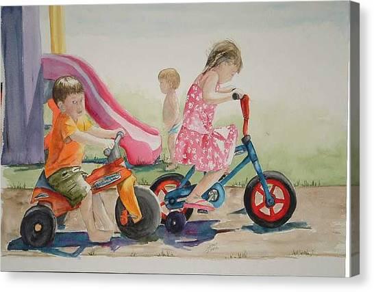 My Sisters Grandkids Canvas Print by Diane Ziemski