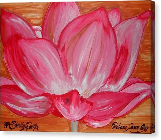 My Soul My Love My Heart Rebecca Tacosa Gray Canvas Print by Rebecca Tacosa Gray