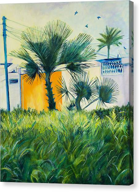 My Street Orange Canvas Print by Chana Helen Rosenberg