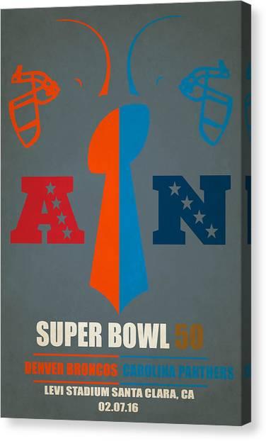 Carolina Panthers Canvas Print - My Super Bowl 50 Broncos Panthers by Joe Hamilton