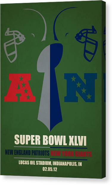 New England Patriots Canvas Print - My Super Bowl Patriots Giants by Joe Hamilton