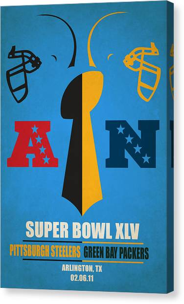 Pittsburgh Steelers Canvas Print - My Super Bowl Steelers Packers by Joe Hamilton