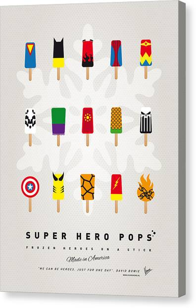 Flash Canvas Print - My Superhero Ice Pop - Univers by Chungkong Art