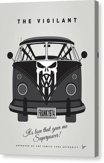 Spiderman Canvas Print - My Superhero-vw-t1-punisher by Chungkong Art