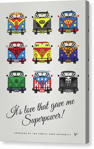 Spiderman Canvas Print - My Superhero-vw-t1-supermanmy Superhero-vw-t1-universe by Chungkong Art