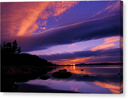 Canvas Print featuring the photograph My Tahoe by Sean Sarsfield