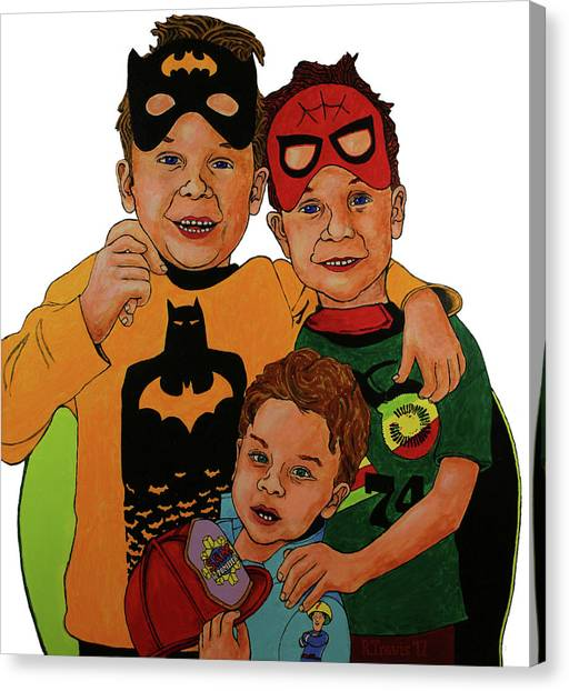 Canvas Print - My Three Grandsons by Rich Travis