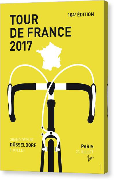 Tour De France Canvas Print - My Tour De France Minimal Poster 2017 by Chungkong Art