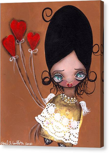 My Valentine Canvas Print by  Abril Andrade Griffith