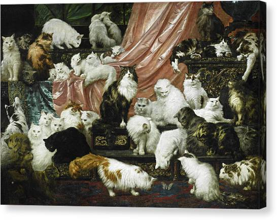 Kittens Canvas Print - My Wife's Lovers by Carl Kahler