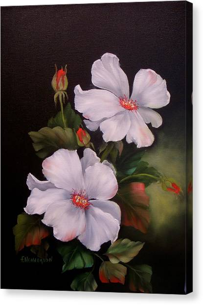My Wild Rose Canvas Print by Francine Henderson