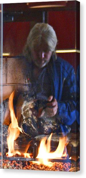 My World On Fire Canvas Print by James Granberry