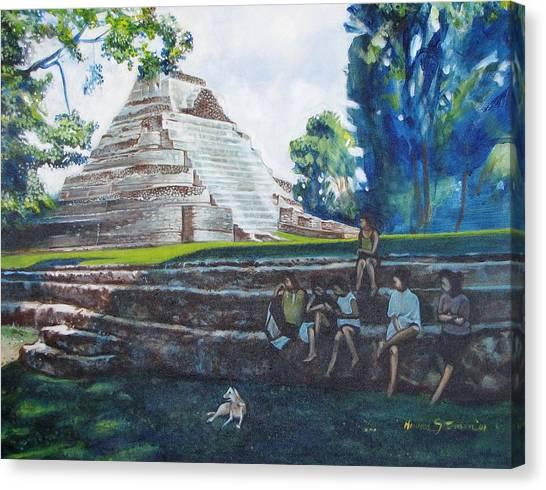 Myan Temple Canvas Print by Howard Stroman