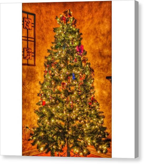 Hearts Canvas Print - #myhouse #myhome #tree #christmas by David Haskett II