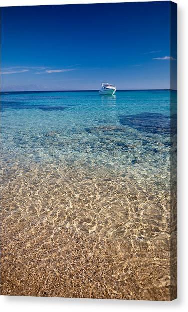 Mykonos Beach Canvas Print by Neil Buchan-Grant