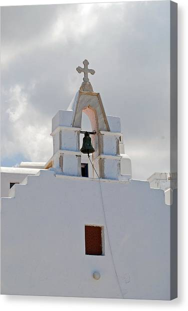 Mykonos Church Canvas Print by Armand Hebert