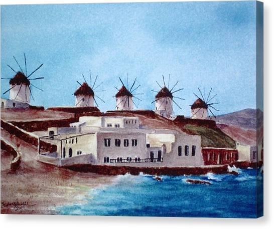 Mykonos Canvas Print by Suzanne Krueger