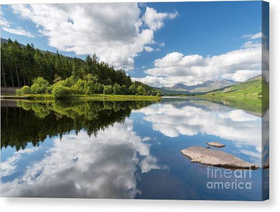Cloud Forests Canvas Print - Mymbyr Lake by Adrian Evans