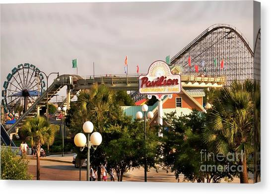 Myrtle Beach Pavillion Amusement Park Canvas Print