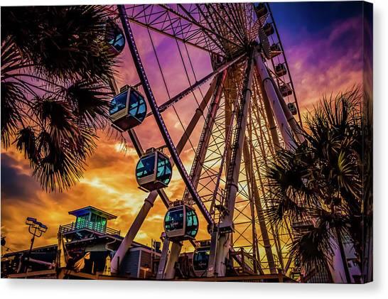 Myrtle Beach Skywheel Canvas Print