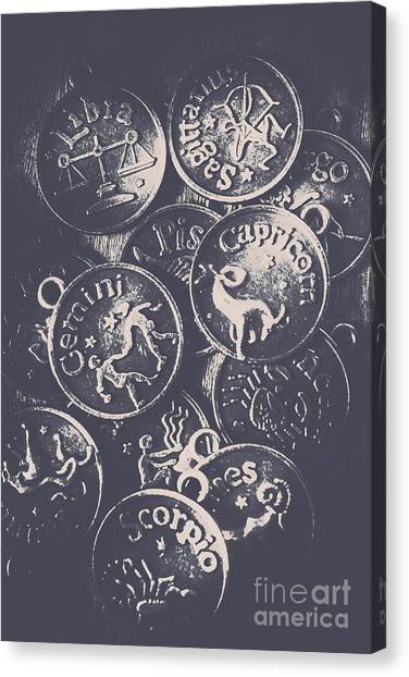 Coins Canvas Print - Mysteries Of The Horoscopes by Jorgo Photography - Wall Art Gallery