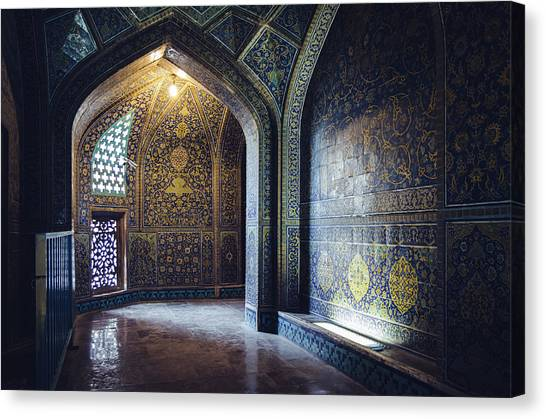 Mysterious Corridor In Persian Mosque Canvas Print