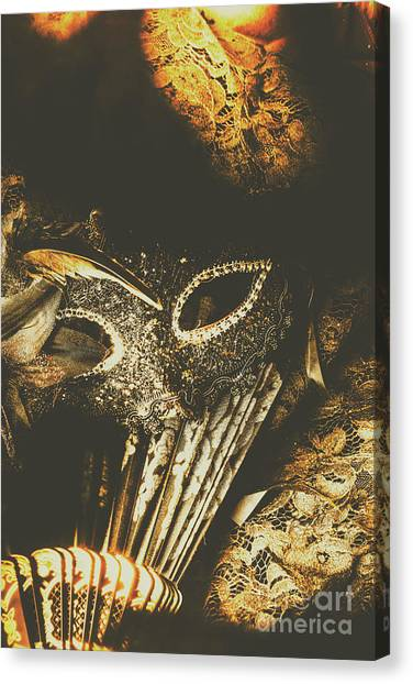 Masquerade Canvas Print - Mysterious Disguise by Jorgo Photography - Wall Art Gallery